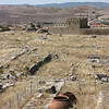 Ḫattuša; le mura ricostruite viste dall'interno