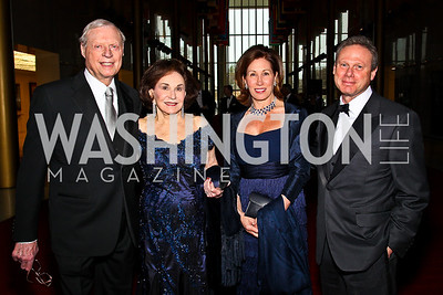 Joseph and Alma Gildenhorn, Catherine and Wayne Reynolds. Kennedy Center Spring Gala. Photo by Tony Powell. April 3, 2011
