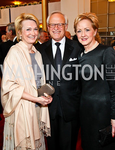 Gahl Burt, Martin Indyk, Ann Stock. Kennedy Center Spring Gala. Photo by Tony Powell. April 3, 2011