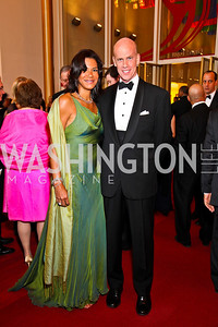 Ann Walker Marchant, Ned McNeal. Kennedy Center Spring Gala. Photo by Tony Powell. April 3, 2011