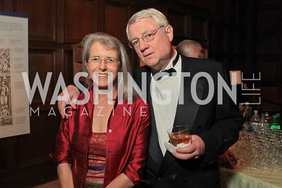 Joan Griswald, Roy Blount.  2011 PEN/Faulkner Foundation Gala at Folger Shakespeare Libra. September 26, 2011. Photo by Alfredo Flores