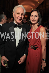 Kevin Rose, Ludmila Cafritz.  2011 PEN/Faulkner Foundation Gala at Folger Shakespeare Libra. September 26, 2011. Photo by Alfredo Flores