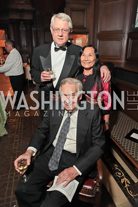 Roy Blount, Timothy Seldes, Jeanne Wakatsuki Houston.  2011 PEN/Faulkner Foundation Gala at Folger Shakespeare Libra. September 26, 2011. Photo by Alfredo Flores