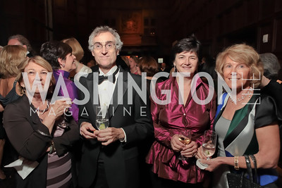 Pati Griffin, Christopher Griffin, Janet Griffin, Carol Ludwig.  2011 PEN/Faulkner Foundation Gala at Folger Shakespeare Libra. September 26, 2011. Photo by Alfredo Flores