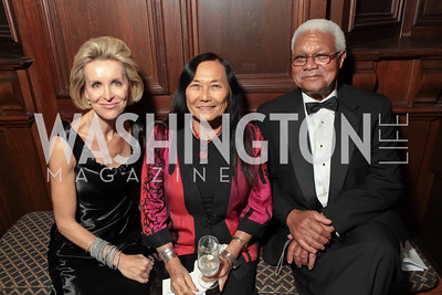 Mary Hafte, Jeanne Wakatsuki Houston, Al Young.  2011 PEN/Faulkner Foundation Gala at Folger Shakespeare Libra. September 26, 2011. Photo by Alfredo Flores