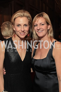 Katherine Bradley, Katharine Weymouth.  2011 PEN/Faulkner Foundation Gala at Folger Shakespeare Libra. September 26, 2011. Photo by Alfredo Flores