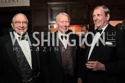 Bill Newman, Ev Shorey, Tony Robinson.  2011 PEN/Faulkner Foundation Gala at Folger Shakespeare Libra. September 26, 2011. Photo by Alfredo Flores
