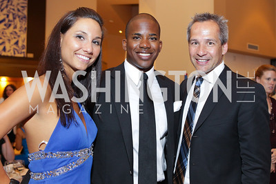 Sarah Martin, Chadleon Booker, Winston Bao Lord. Photo by Alfredo Flores. 2011 Sport For Social Change Awards. The Embassy of France