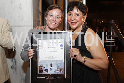 Lisa Wrightsman, Sheila Johnson. Photo by Alfredo Flores. 2011 Sport For Social Change Awards. The Embassy of France
