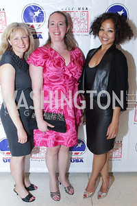 Jennifer Mills, Sara Regan, Natja Rosner. Photo by Alfredo Flores. 2011 Sport For Social Change Awards. The Embassy of France