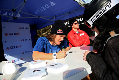 Louie Vito autograph signing at the Delta booth Partner Village  2013 Sprint U.S. Snowboarding and U.S. Freeskiing Grand Prix in Park City, Utah Photo: Sarah Brunson/USSA