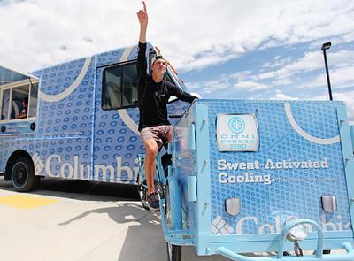 Dylan Ferguson, Freestyle Columbia Ice Cream Truck at the Center of Excellence Photo © Sarah Brunson/U.S. Ski Team