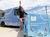 Dylan Ferguson, Freestyle<br /> Columbia Ice Cream Truck at the Center of Excellence<br /> Photo © Sarah Brunson/U.S. Ski Team