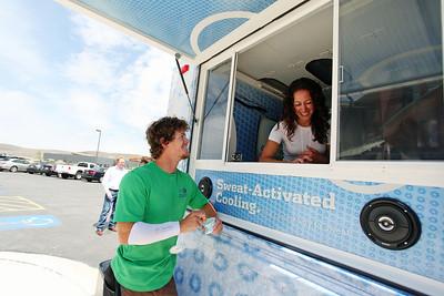 Joe Discoe, Freestyle Columbia Ice Cream Truck at the Center of Excellence Photo © Sarah Brunson/U.S. Ski Team
