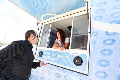 Todd Schirman, Freestyle Director Columbia Ice Cream Truck at the Center of Excellence Photo © Sarah Brunson/U.S. Ski Team