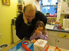 making fortune cookies with Daddy