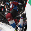 DENVER, CO - JANUARY 22: PA Parenteau (15) of the Colorado Avalanche heads onto the ice before the start of the game against the Los Angeles Kings at the Pepsi Center on January 22, 2013 in Denver, Colorado.  (Photo by Michael Martin/NHLI via Getty Images)