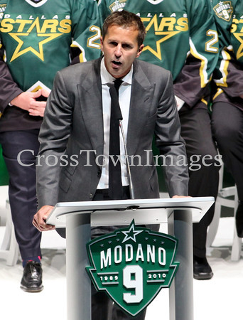 Stars vs Wild Modano Jersey Retirement