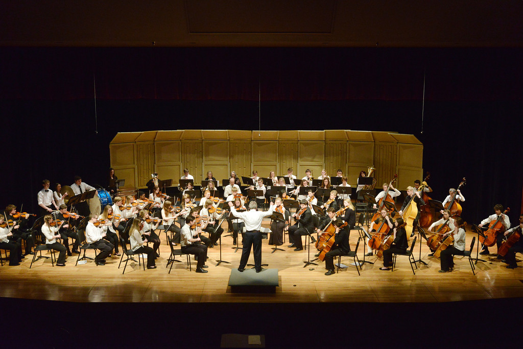 The Sheridan High School Symphony Orchestra performs in the Sue Henry auditorium Wednesday night at Sheridan High School.
