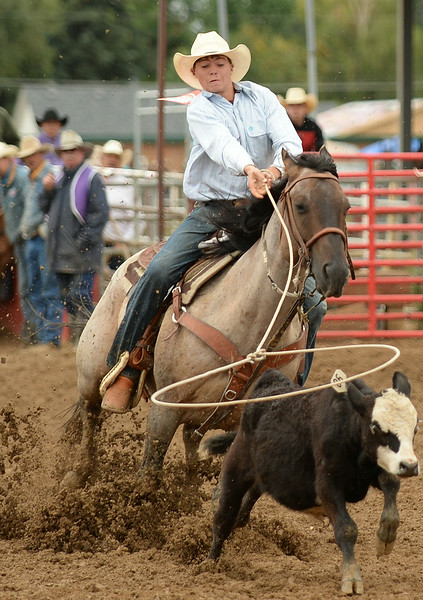Wyatt Tarver competes in senior break-away roping during the Elks Youth Rodeo Saturday at the Sheridan County Fairgrounds. The Sheridan Press|Justin Sheely.