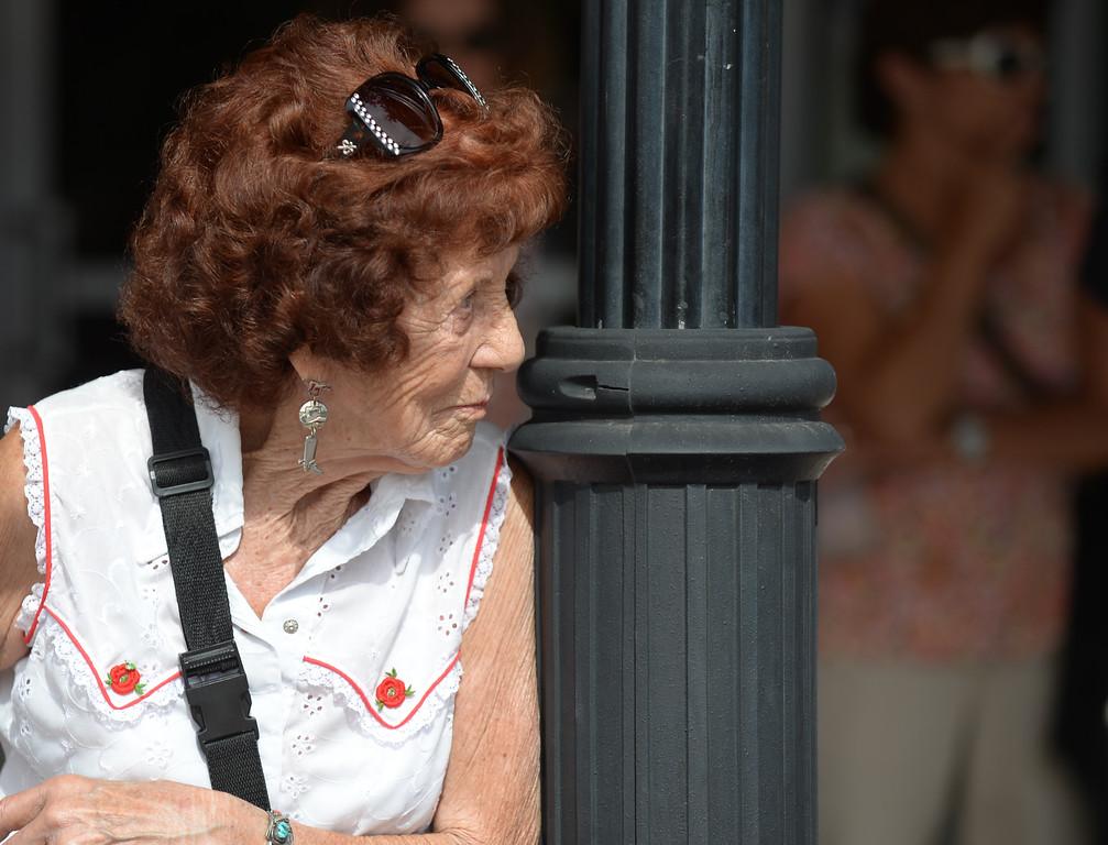 Georgia Andreason waits for the parade to start during the Sheridan WYO Rodeo parade Friday on Main Street. Justin Sheely/The Sheridan Press.