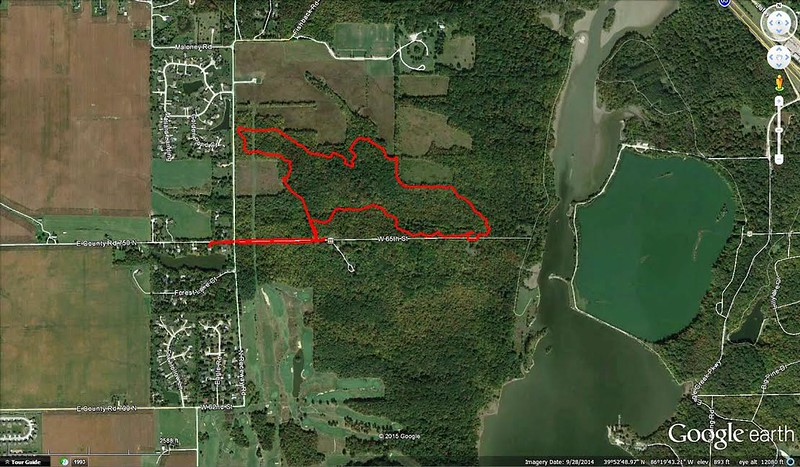 Rouge trails built beginning in May 2014.  This GPS was taking in January 2015.