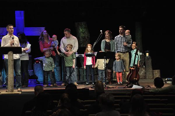 2015 February Baptisms & Child Dedications