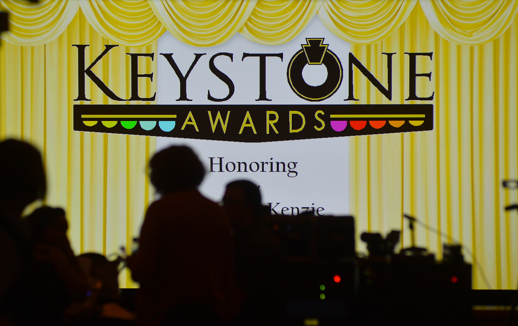 Justin Sheely | The Sheridan Press<br /> Guests enter the theater during the 2016 Keystone Awards Thursday evening at the WYO Theater.