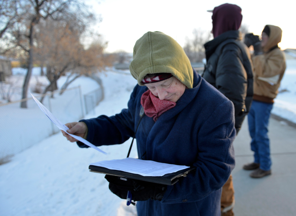 Justin Sheely | The Sheridan Press<br /> Dirlene Wheeler flips through her bird count pages during the annual Christmas Bird Count Thursday in Sheridan. The Audubon Society hosts the Christmas Bird Count to keep track of bird populations and migratory behaviors. The count is carried out by volunteers across the nation.