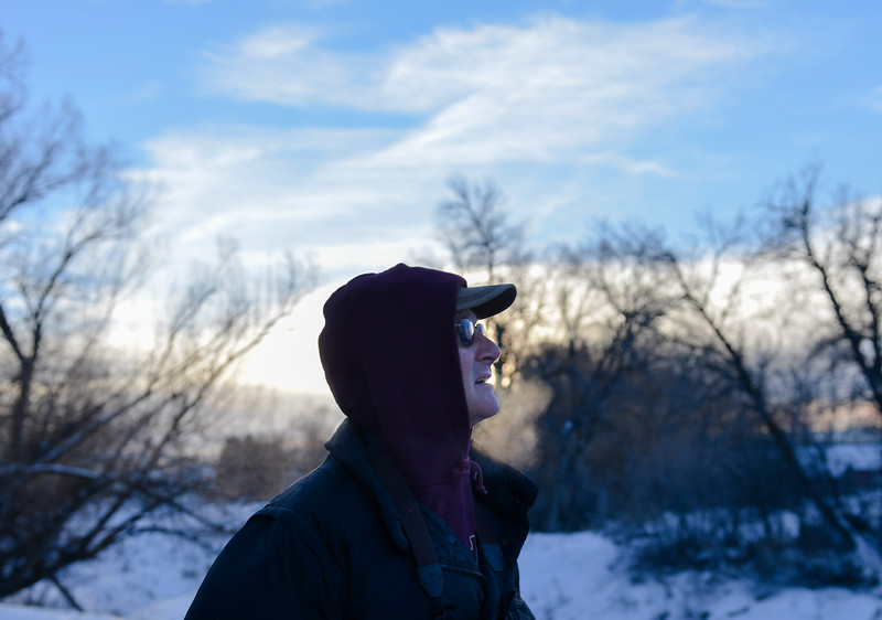 Justin Sheely | The Sheridan Press<br /> Neil Wheeler scans the area across the creek during the annual Christmas Bird Count Thursday in Sheridan. The Audubon Society hosts the Christmas Bird Count to keep track of bird populations and migratory behaviors. The count is carried out by volunteers across the nation.