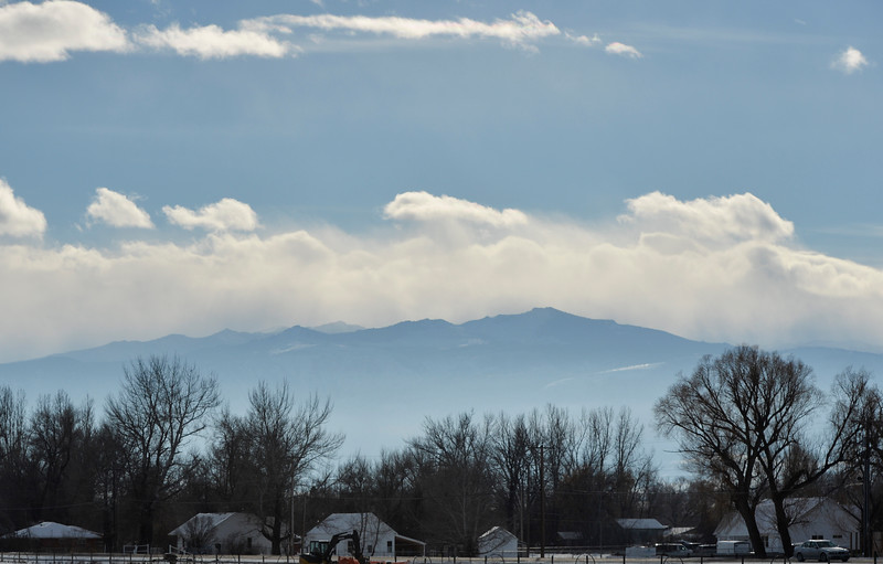 Justin Sheely | The Sheridan Press<br /> Cold air moves over the Bighorn Mountains Tuesday afternoon. The National Weather Service has issued a winter storm warning effective through Friday night, which says to expect 6 to 10 inches of snow.