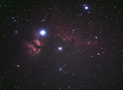 Flame (NGC2024) and Horsehead (IC434) Nebula