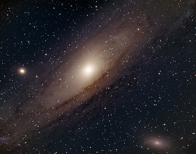 Andromeda Galaxy M31 in LRGB with HyperStar