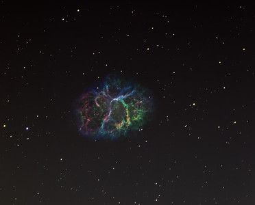 Crab Nebula (M1) in narrowband SHO color pallet