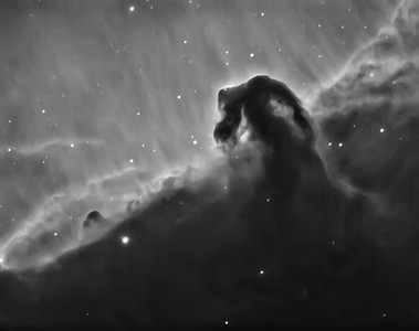 Horsehead Nebula IC434 in 3nm H-Alpha