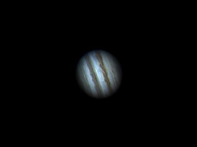 Jupiter with no Barlow. FL 2800mm