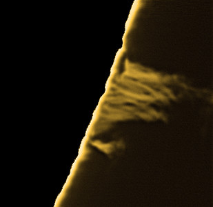 Small prominence on the south-western limb.