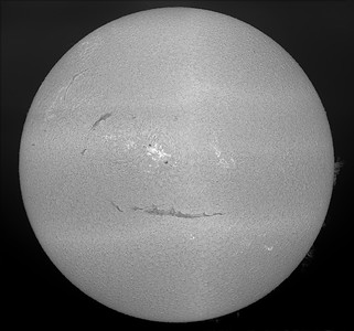 Main Solar Disk Comprised of Six Separate Panels Stiched Together