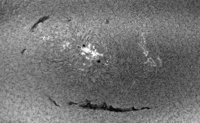 Active Sun Spot Region AR2585