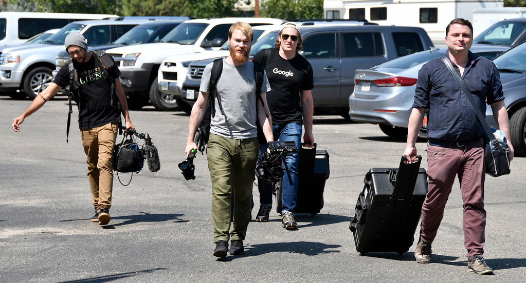 . Aug 18,2017.  Casper WY. Google team arrives at the Astrocon 2017 Astrocon convention Friday in Casper  Wy. The town is expecting over 100,000+ eclipse goers to invade the town as it lies in the middle of totality for a full 100% total eclipse for Monday Aug 21st. Photo by Gene Blevins/LA DailyNews/SCNG