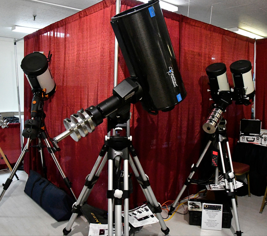 . Aug 18,2017.  Casper WY. Deep Space shows off their right tech scopes during the 2017 Astrocon convention Friday in Casper  Wy. The town is expecting over 100,000+ eclipse goers to invade the town as it lies in the middle of totality for a full 100% total eclipse for Monday Aug 21st. Photo by Gene Blevins/LA DailyNews/SCNG