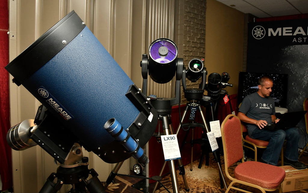 . Aug 18,2017.  Casper WY. Meade telescopes company shows off there high tech scopes during the 2017 Astrocon convention Friday in Casper  Wy. The town is expecting over 100,000+ eclipse goers to invade the town as it lies in the middle of totality for a full 100% total eclipse for Monday Aug 21st. Photo by Gene Blevins/LA DailyNews/SCNG