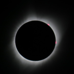Total Eclipse with two flares.