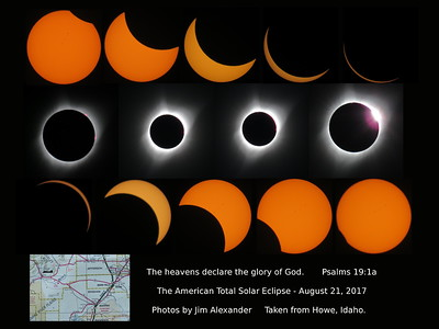 August 21, 2017 - Total Solar Eclipse Sequence.