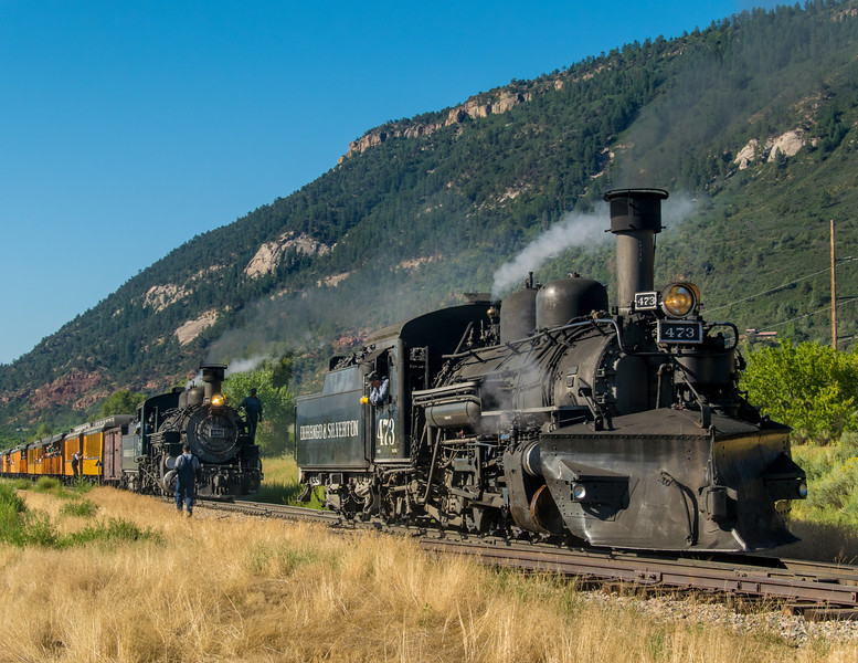 Summer double header couples in the Animas Valley before the steep grades of Hermosa.