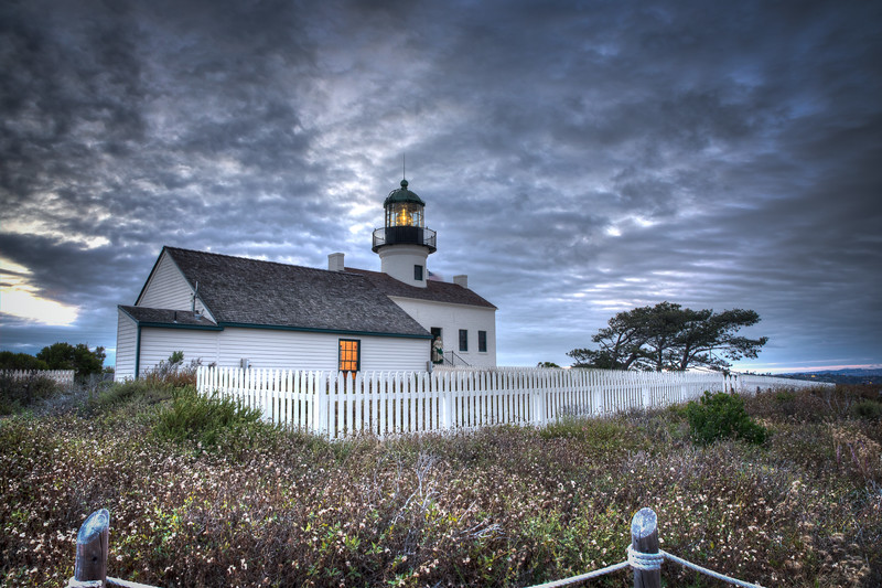 OLD CABRILLO LIGHTHOUSE - DUSK
