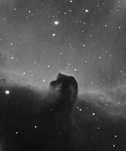 Horsehead Nebula Barnard 33 captured in 5nm H-Alpha. 40x120sec