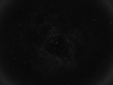 Rosette Nebula in OIII. 30 x 60sec Light Frames Captured.