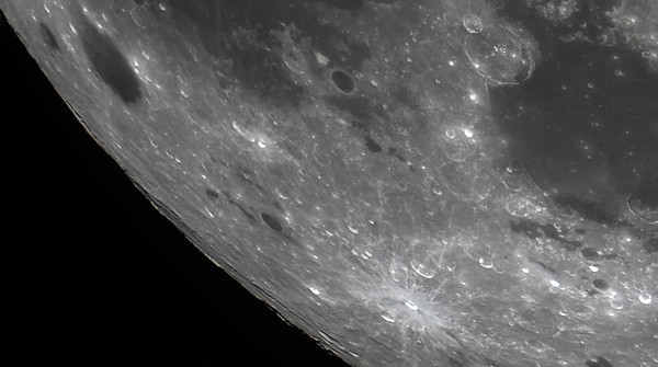 Mare Humorum and Byrgius and Grimaldi craters
