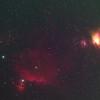 Flame (NGC2024) and Horsehead Nebula (Barnard 33) and the Orion Nebula (M42)